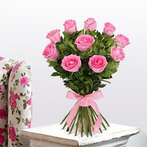 Deliver Bunch of Pink Roses Online