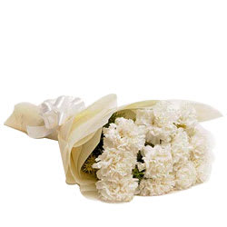 Book Bouquet of White Carnations Online