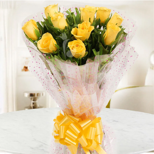 Shop Bouquet of Yellow Roses Online