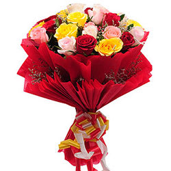 Deliver Mixed Roses Bouquet Online