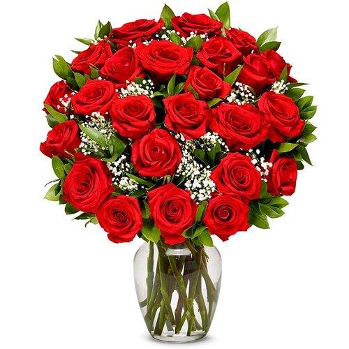 Shop Red Roses in a Vase Online