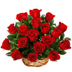 Send Basket of Red Roses Online