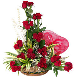 Order Online Arrangement of Red Roses