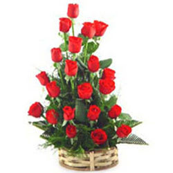 Book Online Red Roses Basket