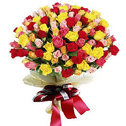 Order Bouquet of Mixed Roses Online