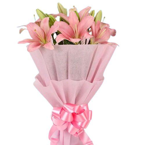 Book Pink Lilies Bouquet Online