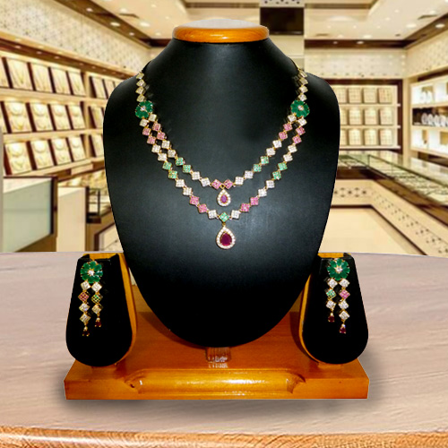 Dapper Illumination Necklace with Earrings Set