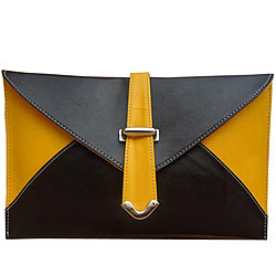 Light Weight Yellow and Black Ladies Purse from Spice Art