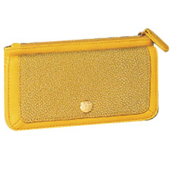 Finely Textured Signature Spice Modern Yellow Wallet Presented to You by Avon