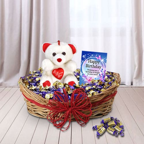 Delightful Birthday Presents Gift Basket<br>