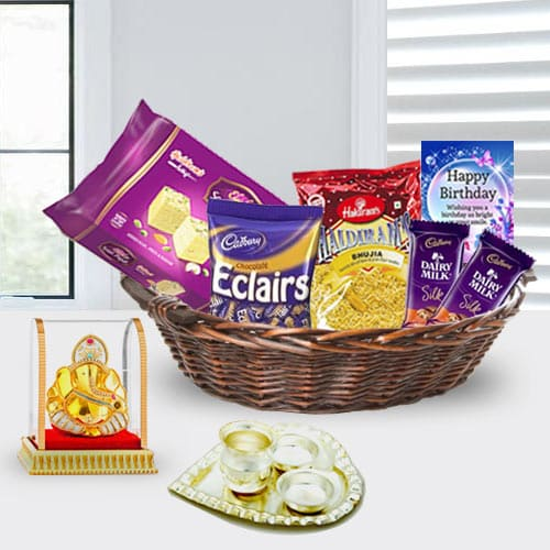 Ravishing Birthday Gift Basket for Girlfriend<br>