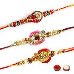 Ravishing Three Rakhi Set