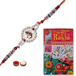 Traditional 1 Om Rakhi in Round Shape