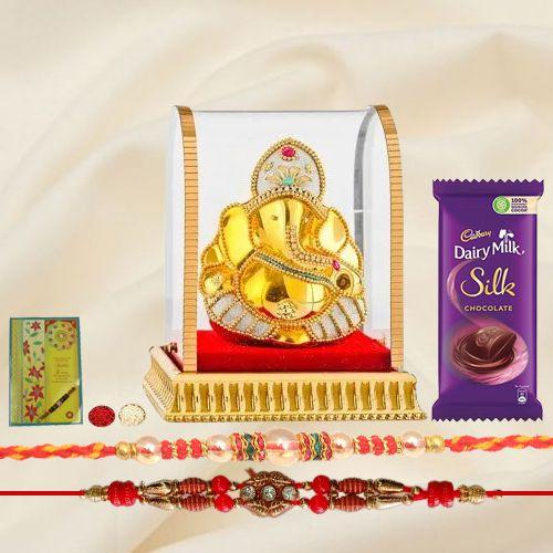 Mesmerizing Ganesh n Rakhi Gift