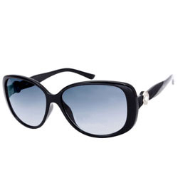 Resplendent Opium Smoke/Black Oval Sunglasses for Women<br>