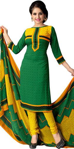 Lovely Printed Art Silk Multi Colour Suit for Women