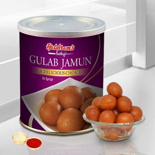 Gulab Jamun from Haldiram or Reputed similar sweet shop