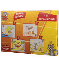 Mirthsome Funskool Tom and Jerry 4 in 1 Puzzle