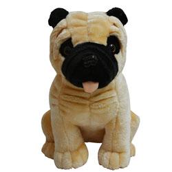 Fancy Bulldog Puppy Soft Toy