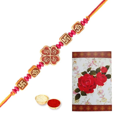 Unique Rakhi with Rakhi Card