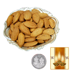 Silver Plated Coin with Almonds