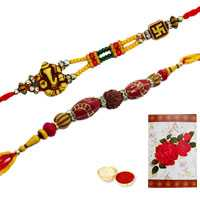 2 Auspicious Rakhi<br><font color=#0000FF>Free Delivery in USA</font>